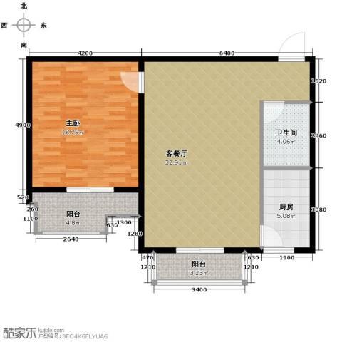 盛世家园1室2厅1卫0厨80.00㎡户型图
