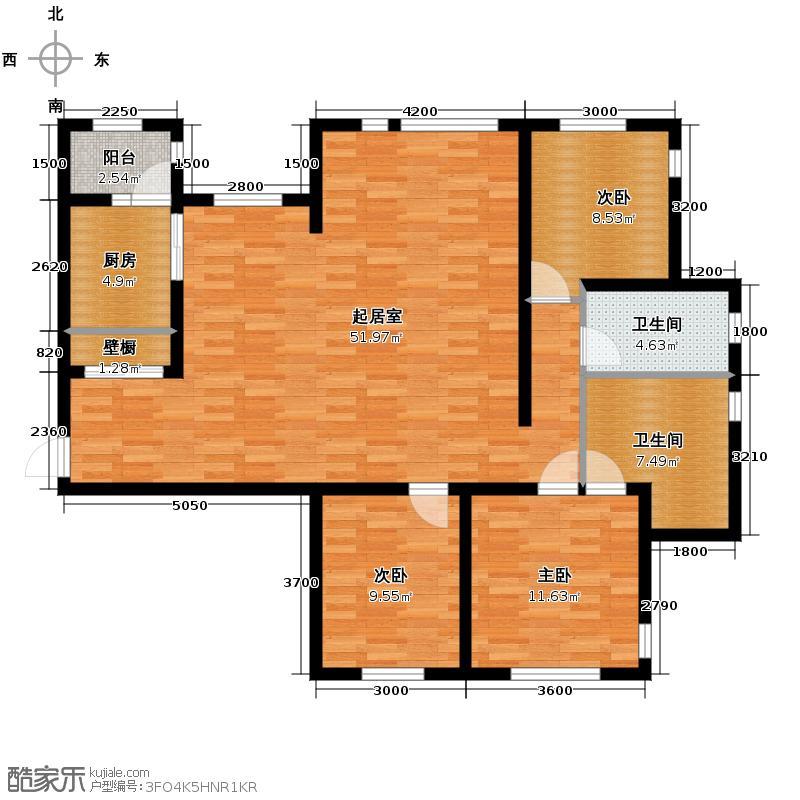 天保金海岸明珠湾116.20㎡户型10室
