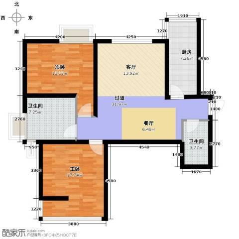 海�时代2室0厅2卫1厨110.00㎡户型图