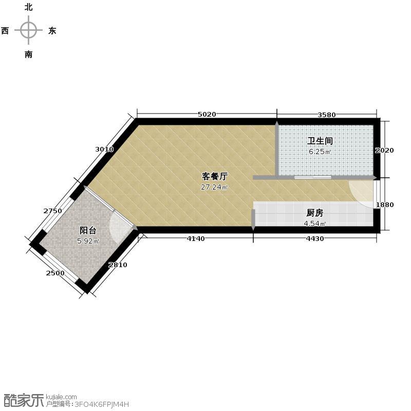 恒泰・时间海48.00㎡5、6号楼B户型10室