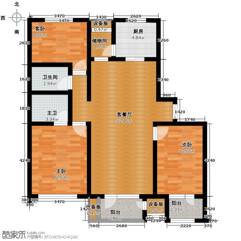 天保金海岸明珠湾99.28㎡B户型10室