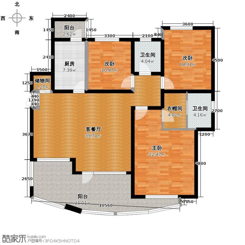 天保金海岸明珠湾149.74㎡洋房户型10室