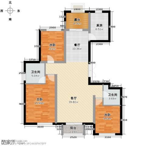 孔雀海3室2厅2卫0厨138.00㎡户型图
