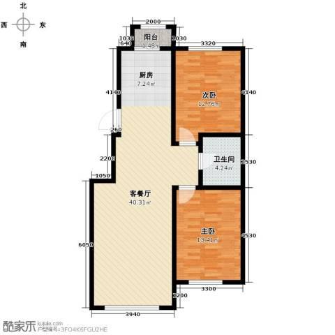 英伦小镇2室2厅1卫0厨91.00㎡户型图