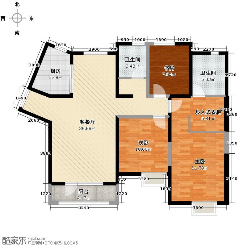 公园六号104.00㎡平面图户型10室