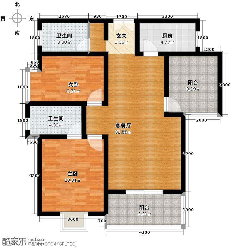 普华浅水湾110.00㎡+空中花园户型10室