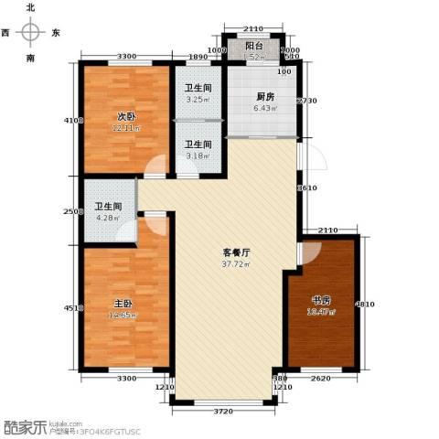 英伦小镇3室2厅2卫0厨122.00㎡户型图