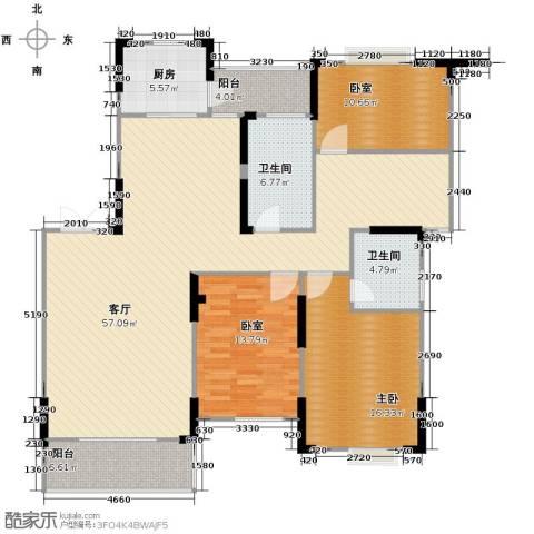 江海皇都1室1厅2卫1厨147.00㎡户型图