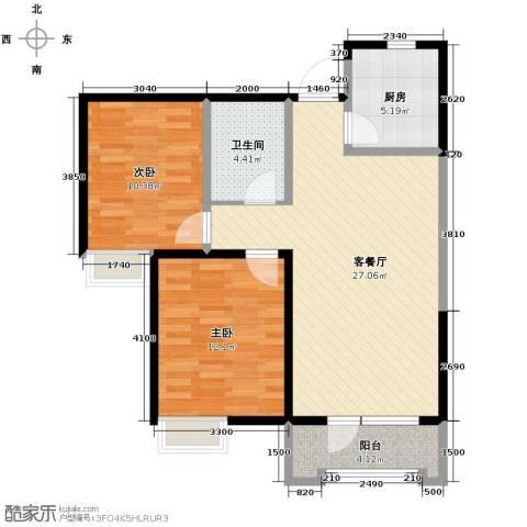 融科贻锦台2室2厅1卫0厨98.00㎡户型图