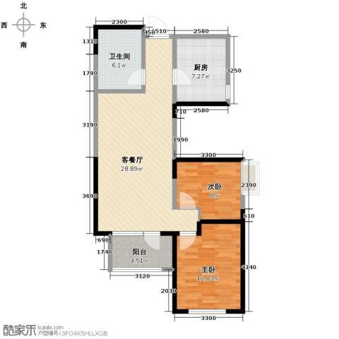 融科贻锦台2室2厅1卫0厨96.00㎡户型图