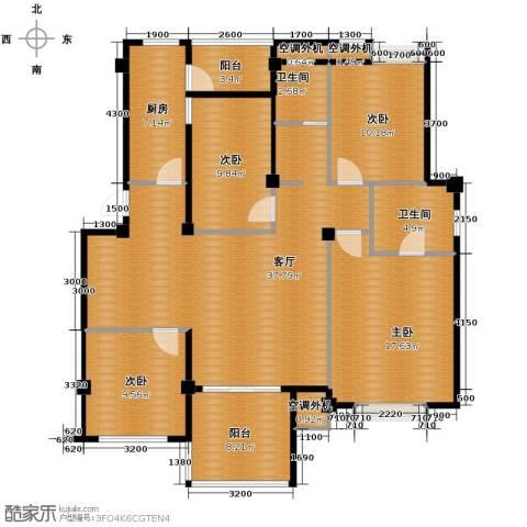 小骆花园4室1厅2卫1厨157.00㎡户型图