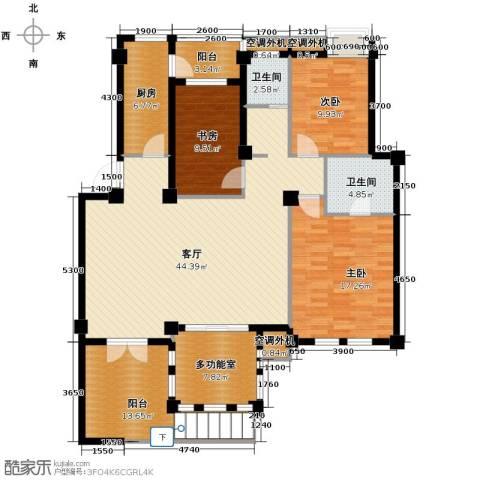 小骆花园3室1厅2卫1厨174.00㎡户型图