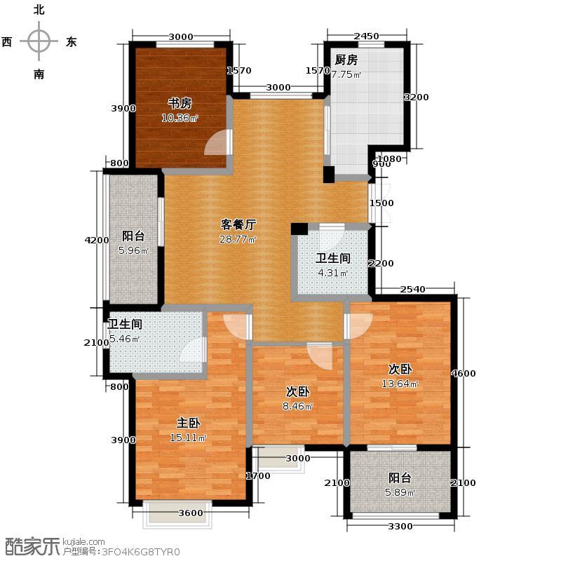 东润枫华139.00㎡G户型4室1厅2卫1厨