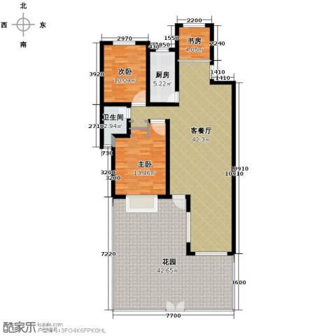 瑞赛居圣苑3室1厅1卫1厨168.00㎡户型图