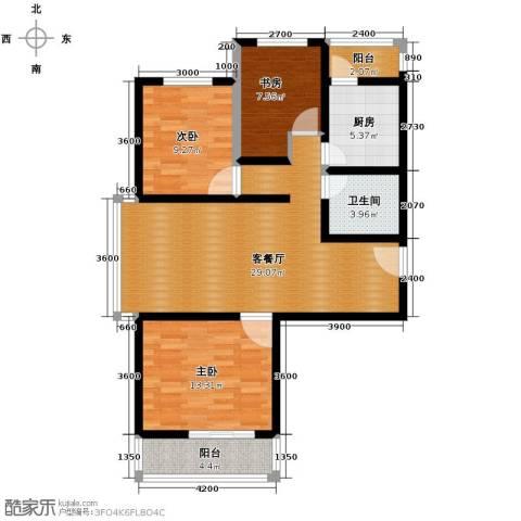 凡尔赛公馆3室1厅1卫1厨110.00㎡户型图