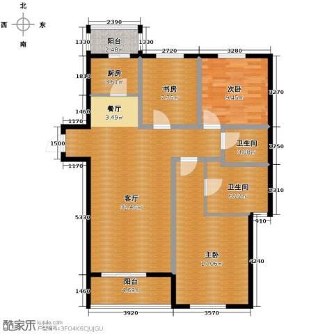 景星花园3室2厅2卫0厨98.17㎡户型图