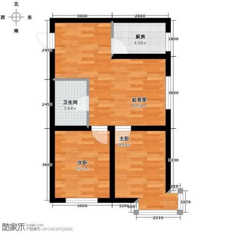 海伦堡2室2厅1卫0厨71.00㎡户型图