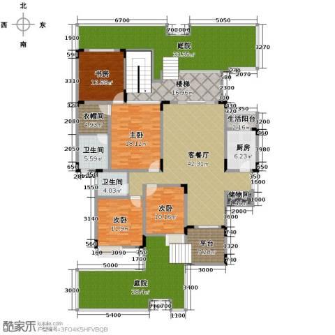 中铁山水一舍4室1厅2卫1厨205.44㎡户型图