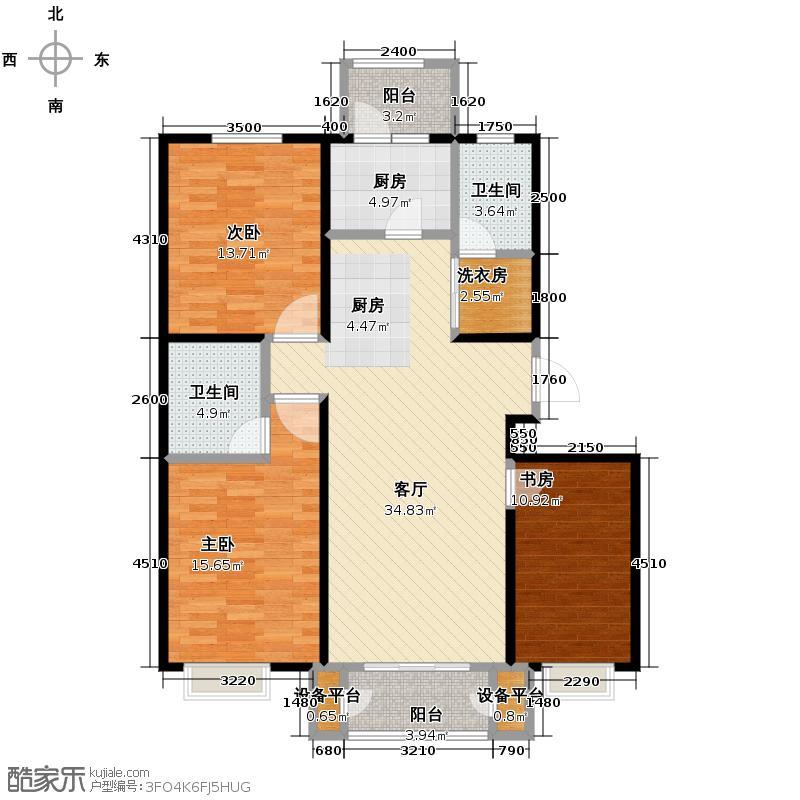 4号线孔雀大卫城112.00㎡C已售完户型3室1厅2卫1厨