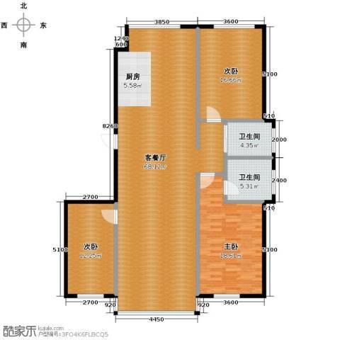 铭仁家园3室1厅2卫0厨171.00㎡户型图