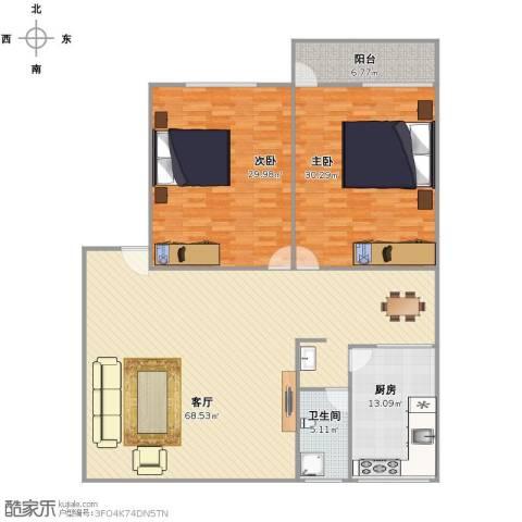 丰泽家园2室1厅1卫1厨202.00㎡户型图