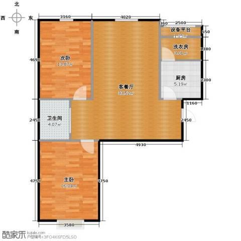 国信嘉邑2室1厅1卫0厨92.00㎡户型图
