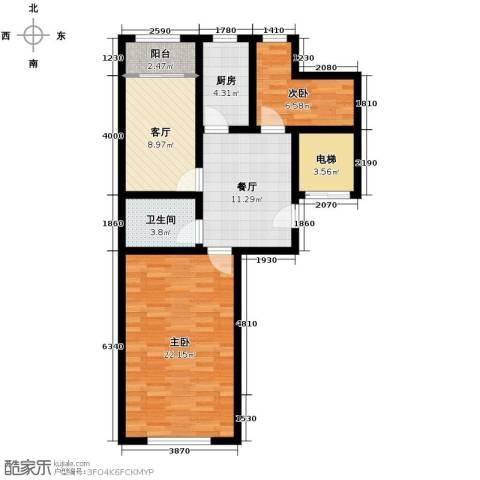 天伦中央广场3室1厅1卫0厨89.00㎡户型图