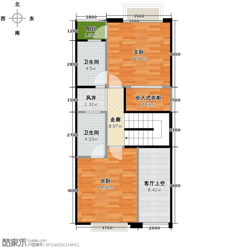 佳兆业珊瑚湾190.32㎡联排别墅A一层户型2室2卫