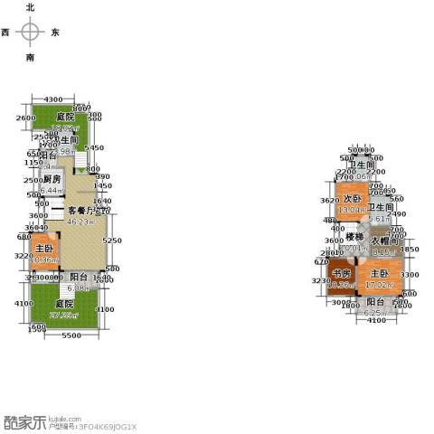 中铁山水一舍4室1厅3卫1厨195.31㎡户型图