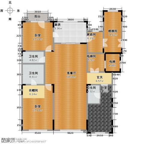 中海紫金苑3室2厅3卫0厨200.00㎡户型图