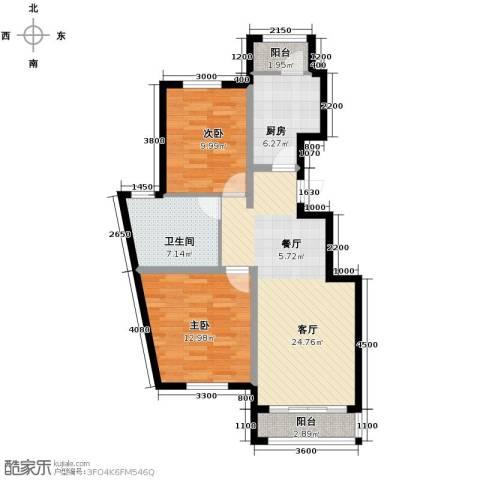 孔雀海2室2厅1卫0厨97.00㎡户型图