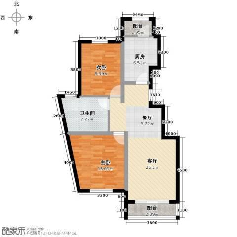 孔雀海1室2厅1卫0厨97.00㎡户型图