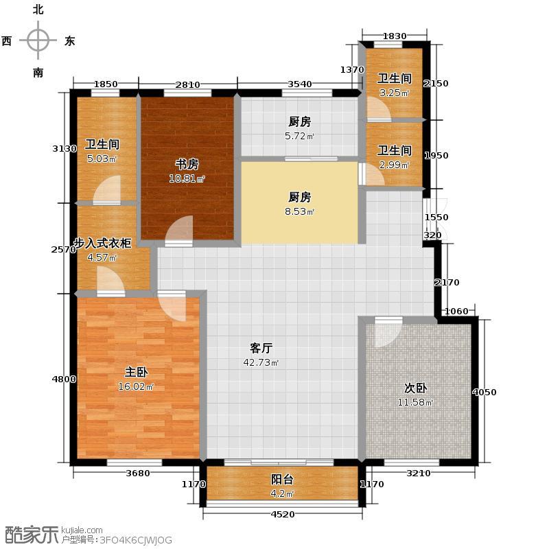 纳帕名门137.52㎡电梯洋房H1户型3室2厅2卫