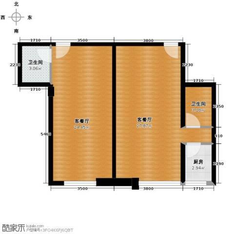 富苑盛世城2厅2卫1厨87.00㎡户型图