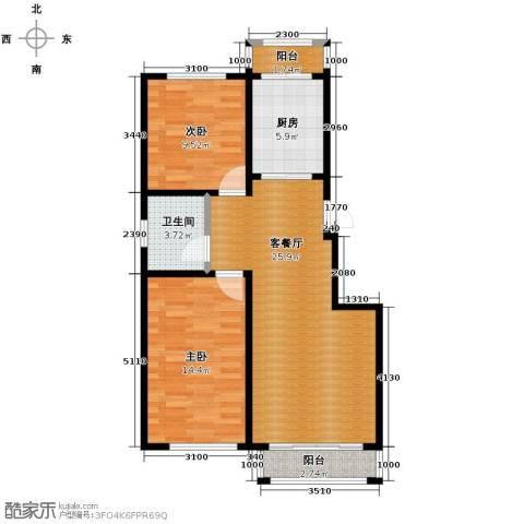 塞纳阳光2室2厅1卫0厨79.00㎡户型图