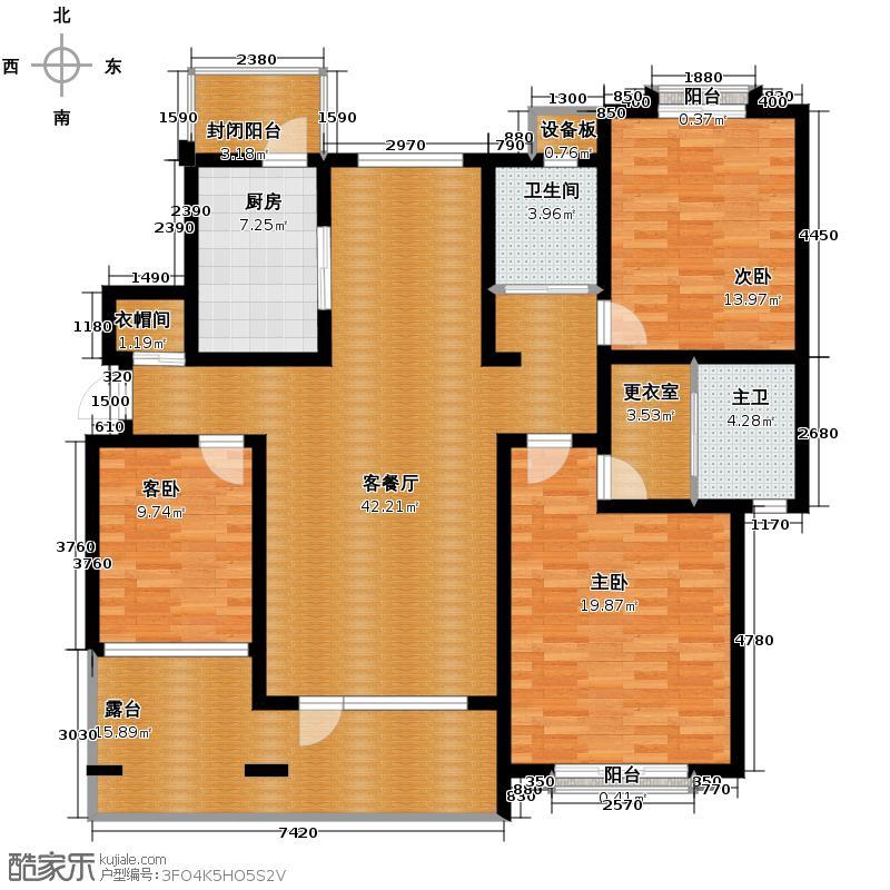 天保金海岸明珠湾145.86㎡洋房户型10室