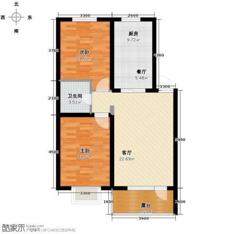 香醇・波尔多2室1厅1卫0厨84.00㎡户型图
