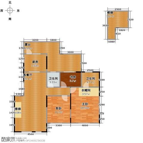 藏珑16203室1厅2卫1厨113.53㎡户型图