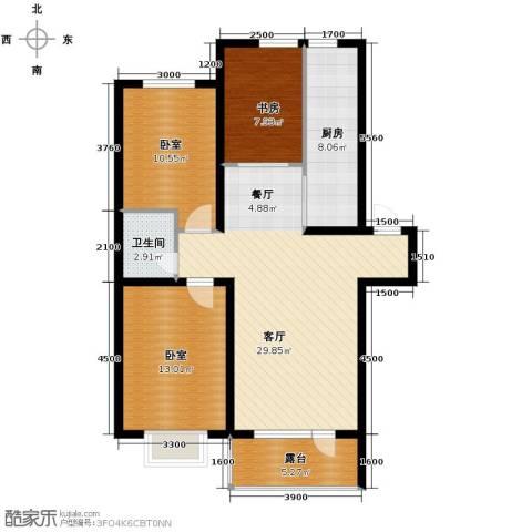 香醇・波尔多3室2厅1卫0厨97.00㎡户型图