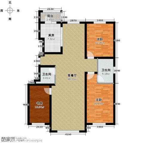 南湖祥水湾3室1厅2卫1厨150.00㎡户型图