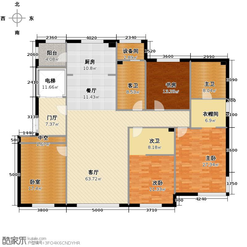 汇锦庄园215.00㎡G5户型4室2厅3卫
