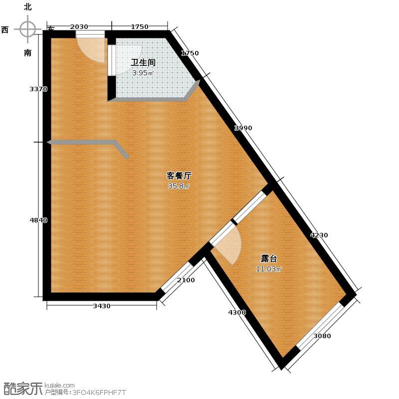 恒泰・时间海54.98㎡56号楼D1户型10室