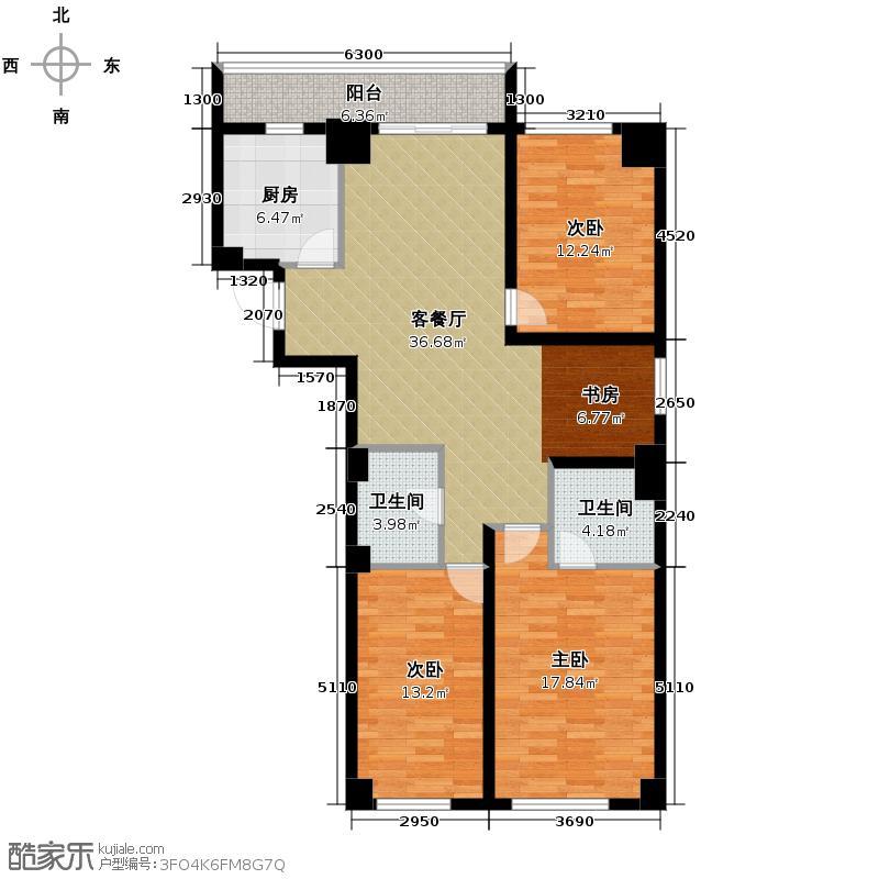 广厦摩卡公馆116.29㎡K户型10室
