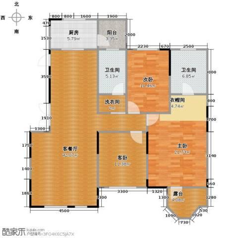 藏珑16203室1厅2卫1厨134.00㎡户型图