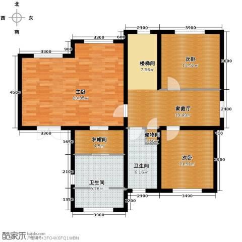 田纳溪湖3室0厅2卫0厨240.00㎡户型图