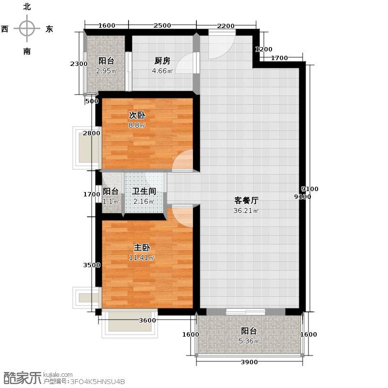 珠江新城94.00㎡-213套户型10室