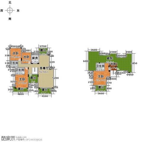 中铁山水一舍5室1厅3卫1厨220.87㎡户型图