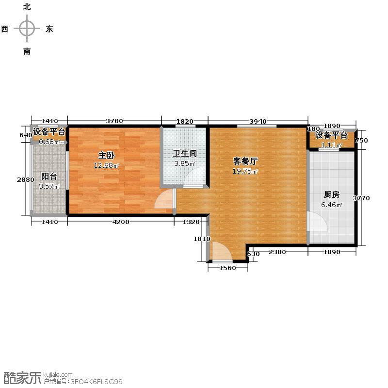 京汉君庭60.41㎡I-5户型10室