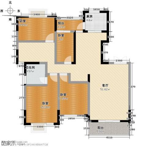 江海皇都1厅1卫1厨144.00㎡户型图