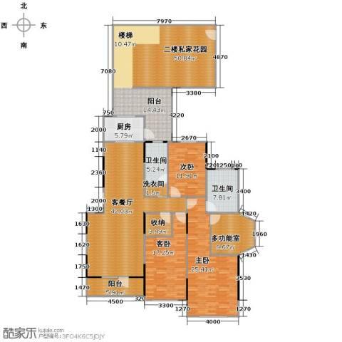 藏珑16203室1厅2卫1厨186.84㎡户型图